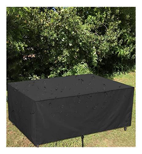 Rectangular Funda para Muebles de Jardín 210D Tela de Oxford para Mesa al Aire Libre, Asientos Protección contra el Sol, la Lluvia y el Polvo,150x150x75cm,Negro
