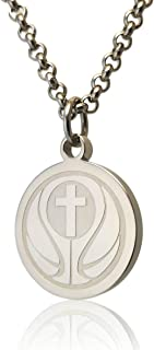 I CAN DO All Things Athletes Necklace for Men and Women- Crafted in Stainless Steel. Basketball, Football, Soccer, Hockey, Volleyball, Baseball Prayer Necklace for Athletes.
