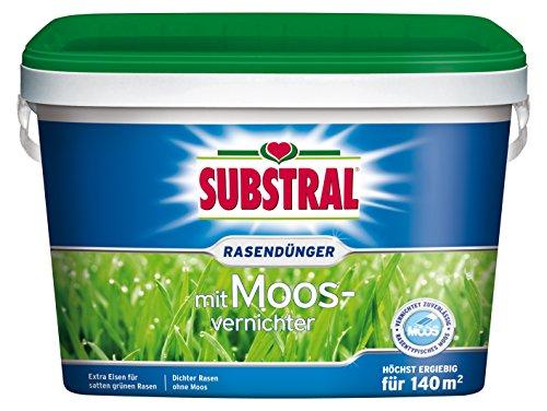 Substral Rasendünger mit Moosvernichter, 5kg für 140m²