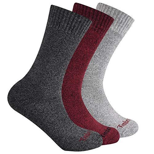 Timberland Damen 3-Pack Ribbed Marled Boot Socks Stiefelsocken, Bunt, Einheitsgröße