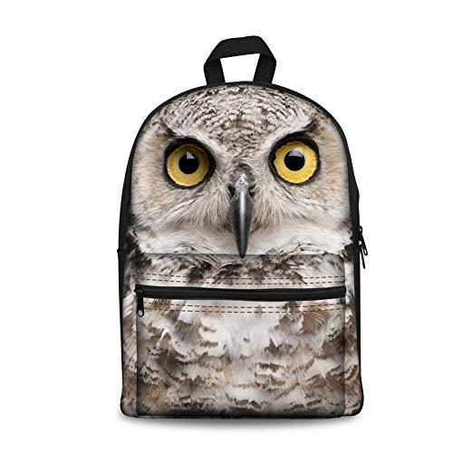TTmom Schulrucksack,Schüler Bag,Rucksack Damen Herren Owl Print Women Men School Backpack Girls Boys Bookbags Daypack Design 14 inch Computer MacBook Owl-3126