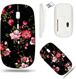 Liili Wireless Mouse White Base Travel 2.4G Wireless Mice with USB Receiver, Click with 1000 DPI for notebook, pc, laptop, computer, mac book ID: 28213322 Seamless floral pattern with of roses on dark