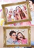 JZK 25 Photo Booth Props mit Rahmen, Brillen Lippen Krawatte Masken Hut Foto Requisiten Foto Accessoires für Hochzeit Geburtstag Taufe Babyparty Weihnachten Neujahr - 2