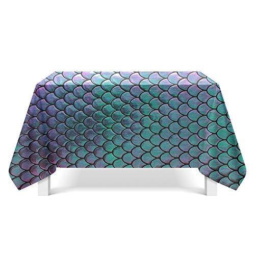 DREAMING-Fischschuppen Textur Kunst Tischdecke Haushalt Tischdecke Tv-Schrank Teetischdecke Runder Tisch Tischset 110cm * 170cm