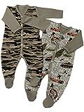 Klekle Baby Jungen Schlafanzüge (2er Pack) in Camouflage Army Style 22821 Größe 86