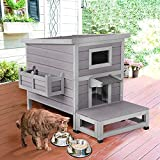 Aivituvin Cat Houses for Outdoor Cats with...