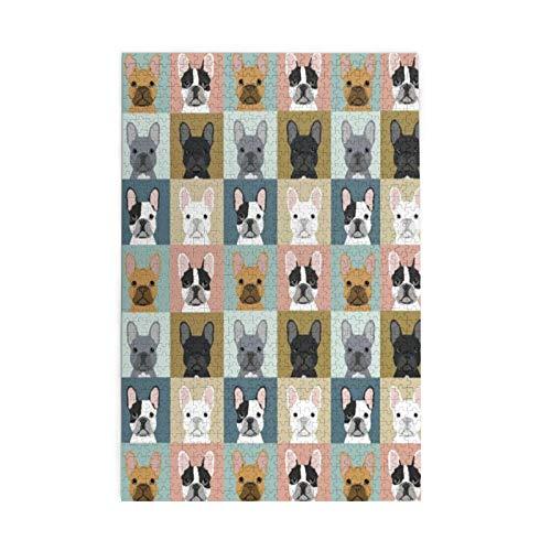 Amici Bulldog Francese Animali Puzzle A Tema Sfida Se stessi Con 1000 Pezzo Per Il Giocattolo Di Laurea