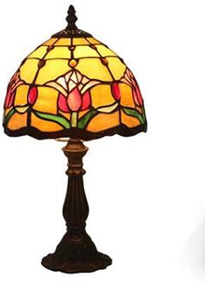 8 Tiffany Style Lámpara De Mesa Estilo Retro Europeo Dormitorio ...
