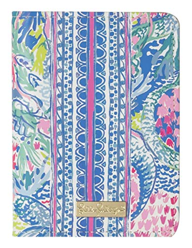 Lilly Pulitzer Passport Cover/Holder/Wallet with Card Slots, Mermaids Cove