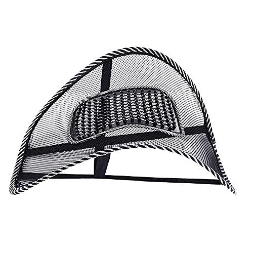 XIAOQIAO 39cmx41cm Universal Coche Silla de Asiento Masaje de Espalda Soporte Lumbar Cojín de Cintura Malla de Malla Ventilato Almohadilla para el hogar Inicio