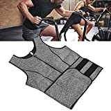 Chaleco de sudor de sauna, chaleco de sudor para hombres, fajas para el cuerpo, entrenador de cintura, sudor, chaleco de entrenamiento deportivo para exteriores(XL)