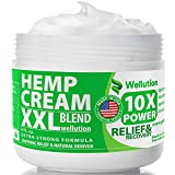 Hemp Cream 2,500,000 XXL Blend - X10 Power - Natural Hemp Extract Cream, Back Pain & Muscle Pain Relief - Efficient Inflammation Cream & Carpal Tunnel Relief - Made in USA - Good for Skin Health