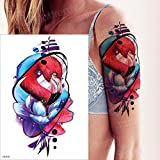 autoadesivo del tatuaggio ragazze colorate trentesimo anniversario serpente farfalla fiore braccio tatuaggio dente di leone corpo schiena tatuaggio manica-in Tatuaggi da fino TH313