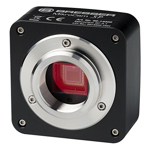 Bresser Optics MIKROCAM SP 3.1 Aluminio - Accesorio para microscopio (Cámara, Aluminio, Negro, Aluminio, 175 g, 58 mm, 58 mm)