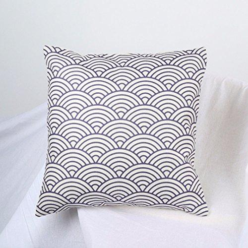 MAYUAN520 Coussins 1PC Motif géométrique de Coussin Bureau Voiture Coussin Decoration Coton Lin Textile Accueil taie 45X45cm,P15