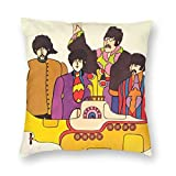 FZDB Pillow Cover The Beatles Cushion Cover Throw Floral Printed Pillow Cushion Cover Cases for Couch/Sofa/Bedroom/Living Room
