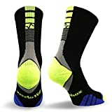 Vitalsox Italian Support Bacteria Stopper & Odor Control Crew Socks (1 pair- fitted) Best For Running, Travel, Yoga, Gym, Basketball, Sports, Medium, Black