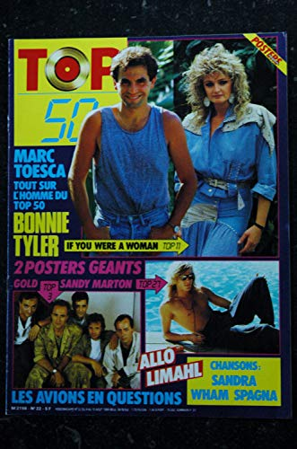 TOP 50 022 1986 08 COVER MARC TOESCA BONNIE TYLER LIMAHL SANDRA WHAM SPAGNA + POSTERS GOLD SANDY MARTON