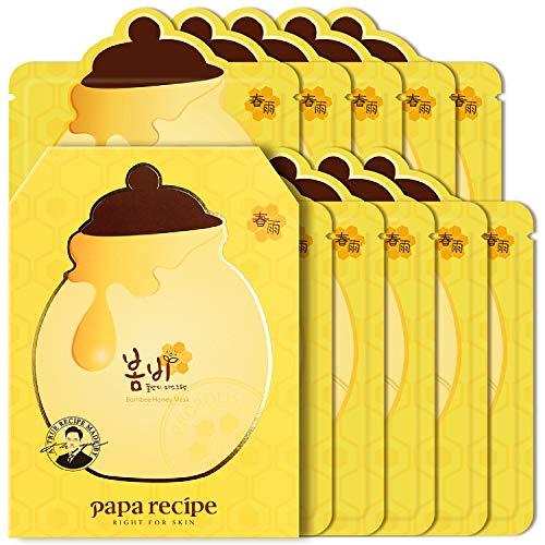 Papa Recipe Bombee Honey Mask Pack, Korean Sheet Mask, Rich Moisturizing Mask 10 Sheets
