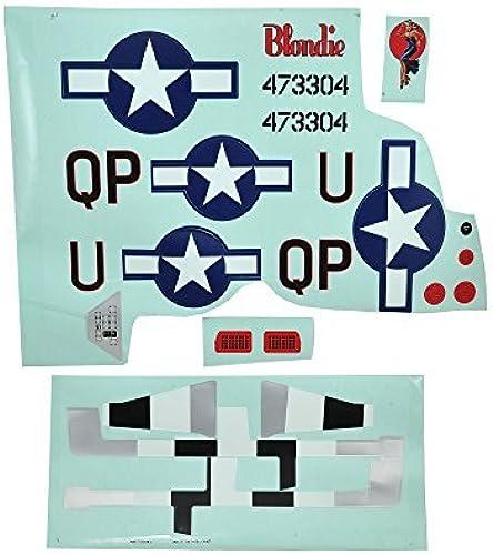 E-Flite Decal Sheet P-51D 1.2m EFL8202 by E-flite