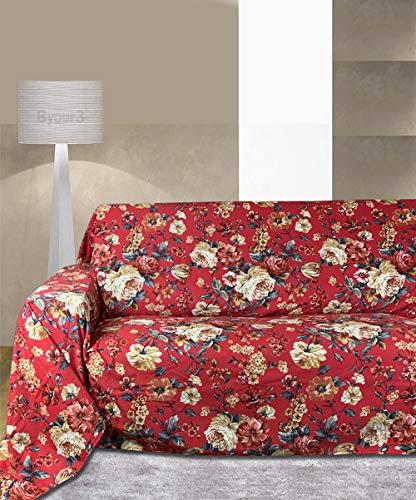 Byour3 ️ Funda de sofá de 3, 4 y 5 plazas, de algodón, diseño de granfoulard, funda de sofá de esquina con chaise longue derecha izquierda (Sanderson 2, 3 plazas 260 x 275 cm)