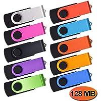 Pendrive 128MB 10 Piezas Poca Capacidad Memoria USB 2.0, Kepmem Práctico y Económico Unidad Flash Drive Colores Mezclado Pen Drives 128 MB Memorias Stick Almacenamiento de Datos Regalos Promocionales