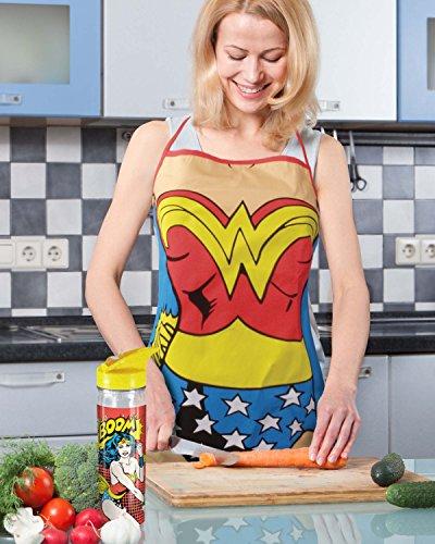 Spoontiques Wonder Woman Apron, Blue