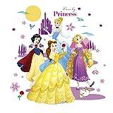 ufengke Pegatinas De Pared Princesa Vinilos Adhesivos Pared Castillo Luna para Dormitorio Habitación Infantiles Bebés Niñas