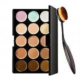 Preyansh 15 Colors Contour Face Cream Makeup Concealer Palette + Make up Brush