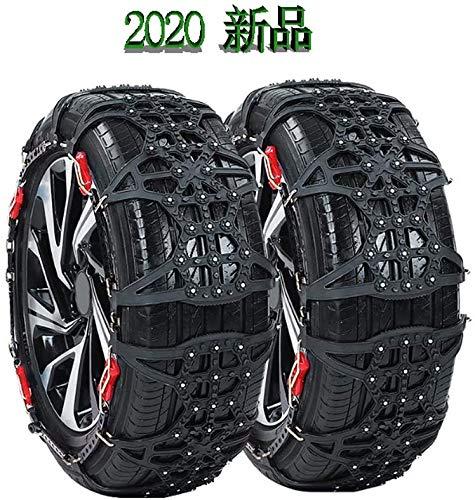 タイヤチェーン (2020年出荷モデル) 非金属 車用スノーチェーン 雪チェーン 冬季 雪道 凍結 タイヤ スリップ防止 簡単装着 ジャッキアップ不要 ゴムバンド不要 緊急 雪対策 (JS-X7) X7適合タイヤ:205/40R18 205/60R15 1