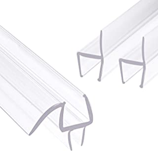 TORRAMI 3-Pack Bathroom Shower Door Weep Strip Seal Side and Bottom for 3/8 Inch Frameless Glass, 36 Inch Length Each 2PCS H-Type + 1PC M-Type a Set (M-Type+H-Type)