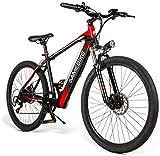 Bicicletas eléctricas para adultos Adultos de 26 pulgadas de bicicletas de montaña eléctrica, E-MTB de aleación de magnesio 400W 48V extraíble de iones de litio All-Terrain 27 velocidad masculino y fe