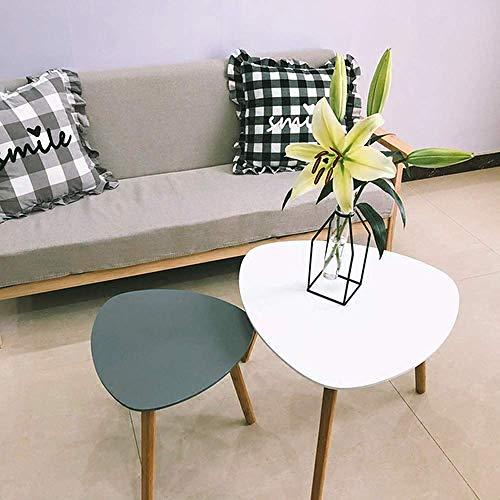 LGFSG Couchtisch Dreieckige Form Beistelltisch /Einfachheit, Moderne Designermöbel, minimalistischer hölzerner Couchtisch, Teetisch, 2 Stück
