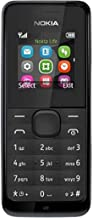Nokia 105 RM-1135 Dual-Band (850/1900 MHz) Factory Unlocked Mobile Phone, Black, 2G Network Only.