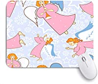 KAPANOU マウスパッド、フルートを持つクリスマスの天使 おしゃれ 耐久性が良い 滑り止めゴム底 ゲーミングなど適用 マウス 用ノートブックコンピュータマウスマット