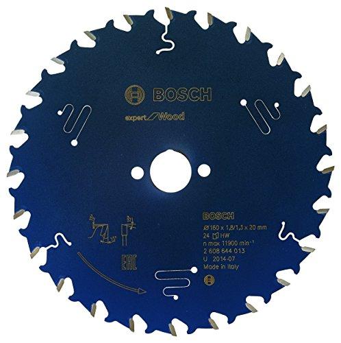 Bosch Professional Kreissägeblatt Expert für Wood (Holz, 160 x 20 x 1,8 mm, 24 Zähne, Zubehör Kreissäge)