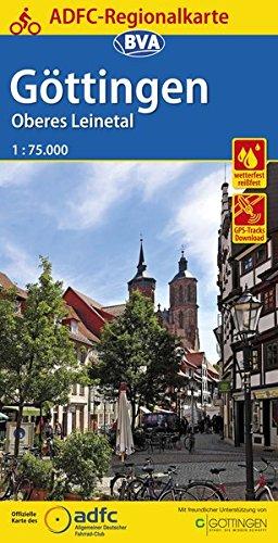 ADFC-Regionalkarte Göttingen Oberes Leinetal, 1:75.000, reiß- und wetterfest, GPS-Tracks Download (ADFC-Regionalkarte 1:75000)