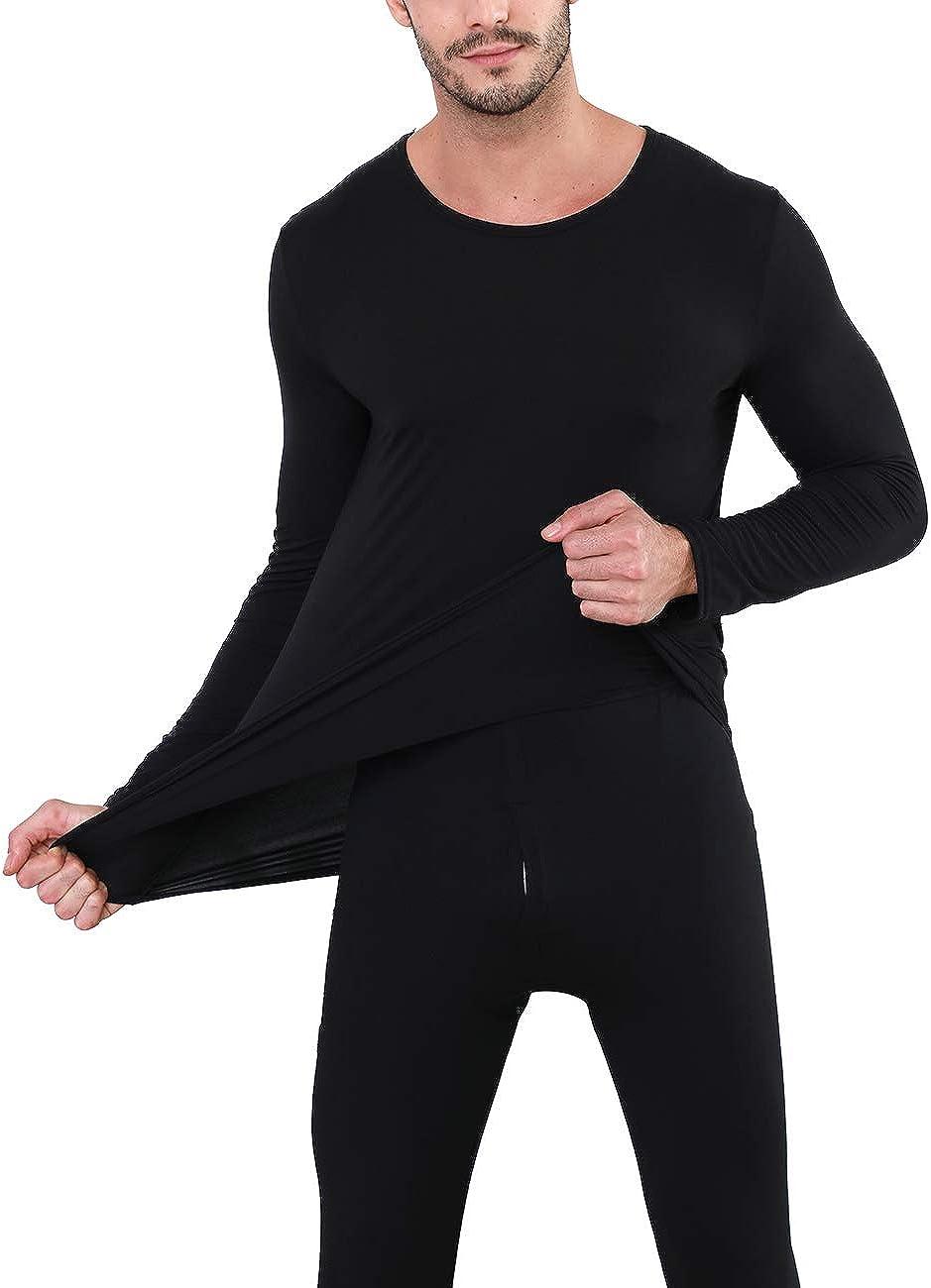 Nonbongoy Men's Ultra Soft Thermal Underwear Long Johns Top and Bottom Underwear Pajamas Set
