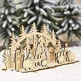 Albero di Natale fai da te albero di Natale in legno mini giocattolo del giocattolo di Capodanno Party Ons for ornamenti domestici Piccoli alberi Pini Village Assemblaggio facile (Colore: SD002 32) pe