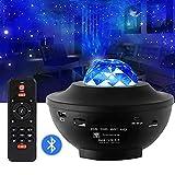 Nebula Sky Proyector Aurora Romántico Bluetooth Música Control remoto Luz de noche estrellada Bola mágica Adecuado para dormitorio Fiesta de vacaciones Fiesta Planetario de escenario