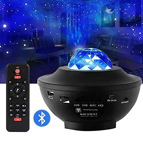 QIMUU Lámpara Proyector Led Proyector Cielo Estrellado Con Mando a Distancia Temporizador y Altavoz Bluetooth Para Habitación / Niños / Fiesta / Regalo