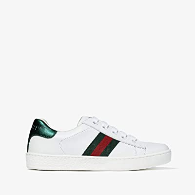 Gucci Kids New Ace Sneakers (Little Kid) (White) Kids Shoes