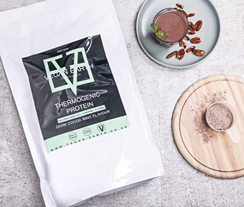 Vegan Protein Powder Dark Chocolate Mint 2kg |100% Plant-Based Goodness & Completely Natural | Gluten-Free | Made in UK by Vegan Earth