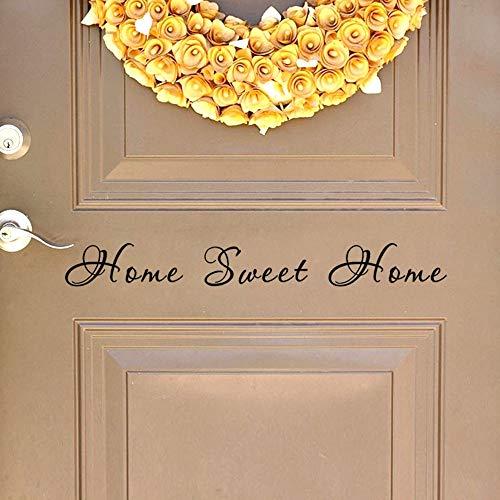 BLOUR Wandsticker Sweet Home Türsticker Aufkleber Wandbeschriftung Art Words a804 02