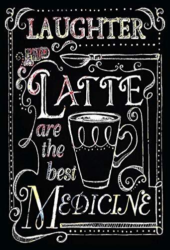 FS koffie Laughter en Latte metalen bord gebogen metalen sign 20 x 30 cm