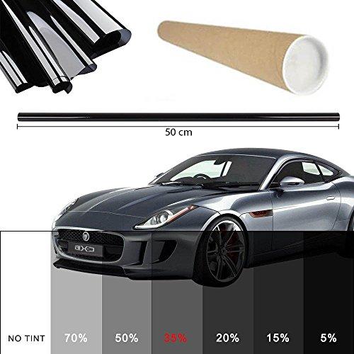 Promo Link Kleurfolie licht zwart 35% 50x300cm raamfolie auto raam zonwerende folie