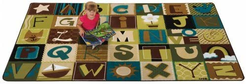 Carpets for Kids Toddler Alphabet Size: Rectangl Rug Clearance SALE sale Limited time Blocks