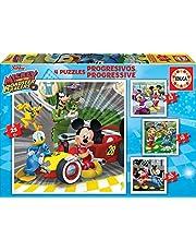 Educa 17629 Top Départ Progressive Mickey Roadster Racers 12-16-20-25