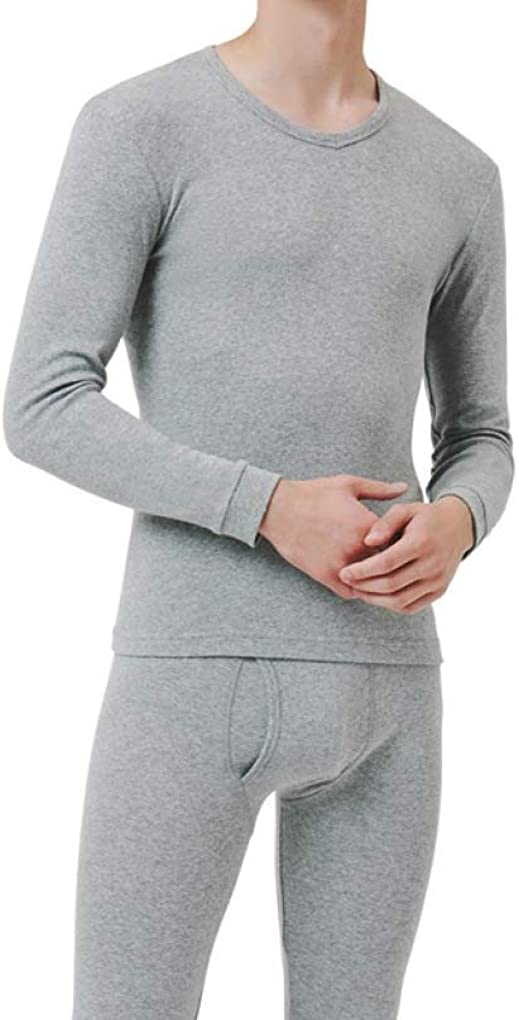 Winter Thermal Underwear for Men O-Neck Ultra Soft Long John Warm Base Layer Top and Bottom