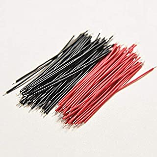Jammas 200Pcs Motherboard Breadboard Jumper Cable Wires Set Tinned Welding Wires Black Red Kits Wholesale